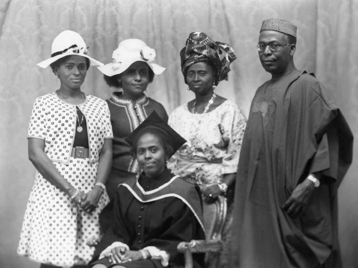 foto da família do awolowo (yorubá).