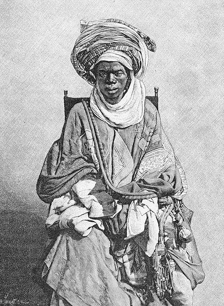 A Mohammedan Yoruba trader (1890-1893) . ew York Public Library [1] The earth and its inhabitants, Africa, Elisée Reclus